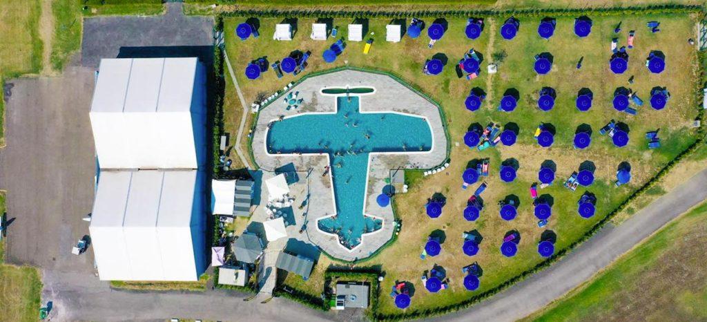 pool inside Flyozzano Airfield